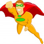 Super Hero Flying — Stock Vector #9458349