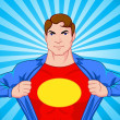 Royalty-Free Stock Vector Image: Superhero undercover