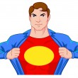 Stock Vector: Superhero undercover
