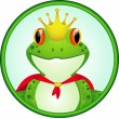 King of frog - Stock Vector