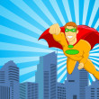 Stock Vector: Super Hero Flying