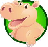 Hippo cartoon — Stock Vector
