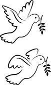 Wektor symbol gołąb — Wektor stockowy