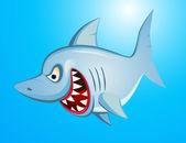 Rekin zły kreskówka — Wektor stockowy