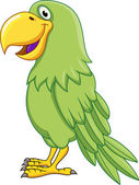 Green Parrot — Stock Vector