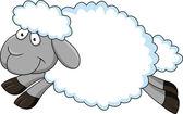 Sheep Cartoon — Stock Vector