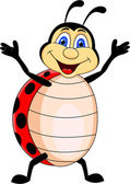 Funny Lady bug Cartoon — Vecteur