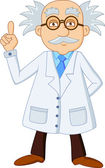 Funny scientist cartoon character — Stock Vector
