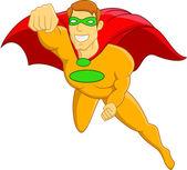 Super Hero Flying — Stock Vector