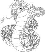 Arg cobra tatuering — Stockvektor