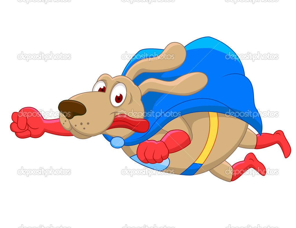 Vector Illustration Of Super Dog Cartoon — Stock Vector #9458324