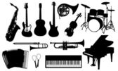Music instruments — Stockvektor