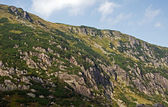 Mountainside with rocks in Sudety — Stock Photo