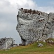 White limestone rock in Jura — Stock Photo