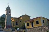 Hurch avec la tour de l'île de zakynthos — Photo