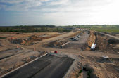 Orbital road under construction in Poznan — Stock Photo
