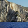White rock on coast at Zakynthos island — Foto Stock #10535666