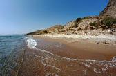 Beach with rock on island Zakynthos — Stock Photo