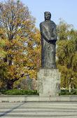 Monument to Adam Mickiewicz in Poznan — Stock Photo