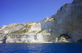 Cliff face on Zakynthos island — Stock Photo