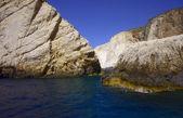 Rochas em custo na ilha de zakynthos — Foto Stock