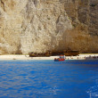 On shipwreck beach at Zakynthos island - Stock Photo