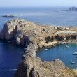 Haven and bay on island Rhodes — Stock Photo #8470029