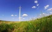 Turbíny v větrné farmy — Stock fotografie