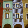 Stock Photo: Townhouses in Old Market,Poznan