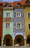 Townhouses in Old Market,Poznan — Stock Photo