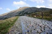 Trail i karkonosze-bergen — Stockfoto