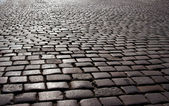 Cobblestone on Old Market in Poznan — Stock Photo