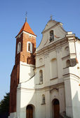 Facade of church in Gniezno, Poland - — Stock Photo
