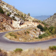 Road in mountains on Zakynthos island — Stock Photo