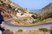 Road in mountains on Zakynthos island — Stock Photo