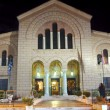 Agios Dionysios Church at night — Foto de stock #9530039