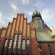 Stock Photo: Gothic church with tower in Poznan