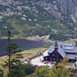 Stock Photo: Mountain refuge and pond in Karkonosze