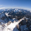 The Zugspitze in Bavary, Germany. Panoramic view — 图库照片