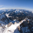 The Zugspitze in Bavary, Germany. Panoramic view - Stock Photo