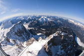 The Zugspitze in Bavary, Germany. Panoramic view — Stok fotoğraf