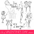 Set of cute valentine's day elements — Stock Vector #8393089