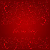 Romantic background with hearts for valentine's day | vector — Stock Vector