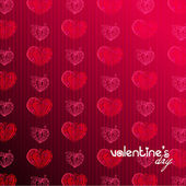 Romantic background with hearts for valentine' day | vector — Stock vektor