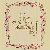 Romantic background with hearts for valentine's day | vector — Stok Vektör