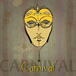 Illustrated beautiful carnival girl — Stock Photo