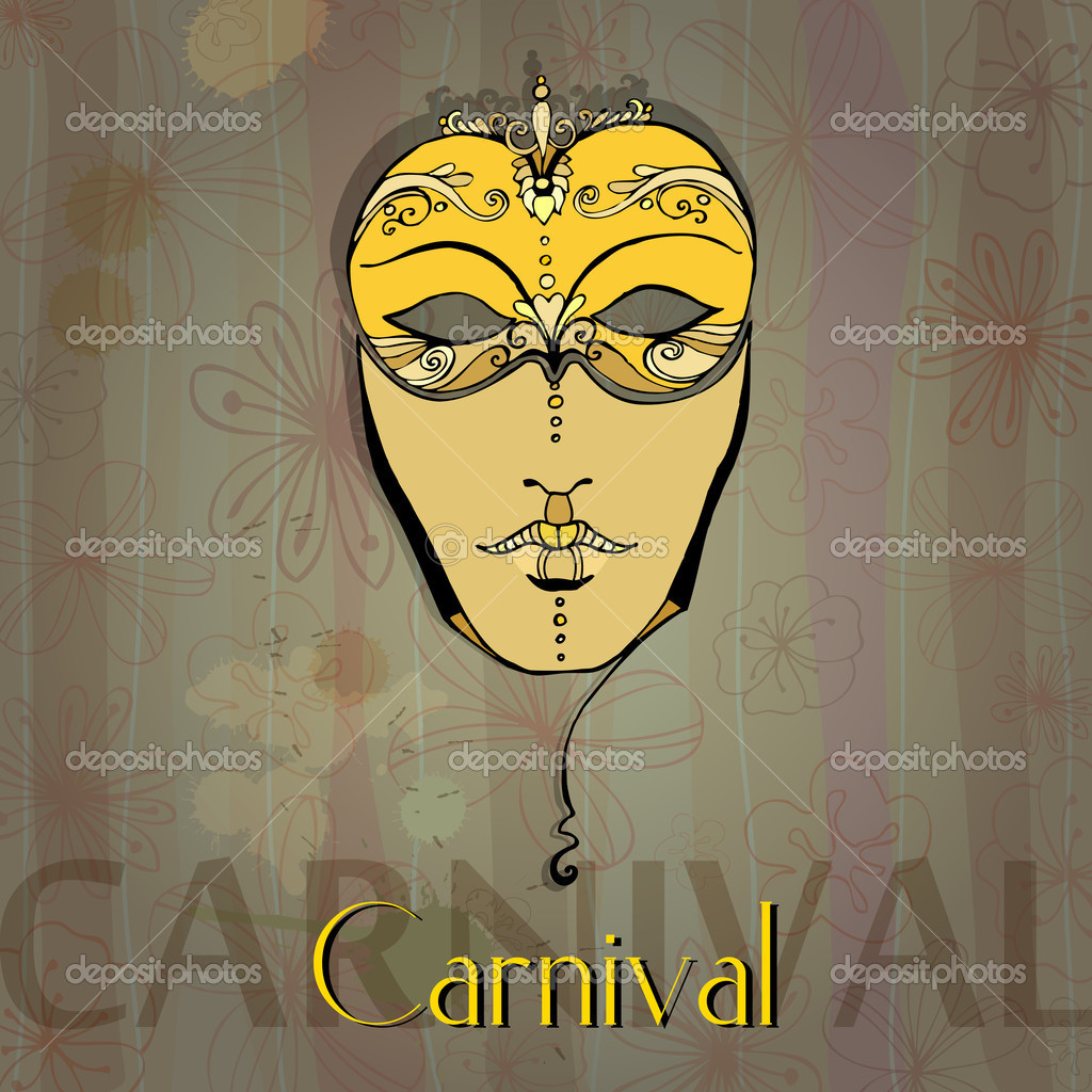 Illustrated beautiful carnival girl — Stock Photo #8512988