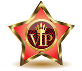 Gold star with a VIP.Vector — Stock Vector