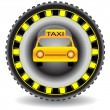 Taxi icon wheel car.Vector — Stock Vector