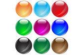 Colored glass balls.Vector — Stock Vector